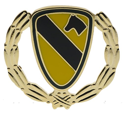 Army 1st First Cavalry Wreath 1 1/8 inch Hat Lapel Pin H15840D177