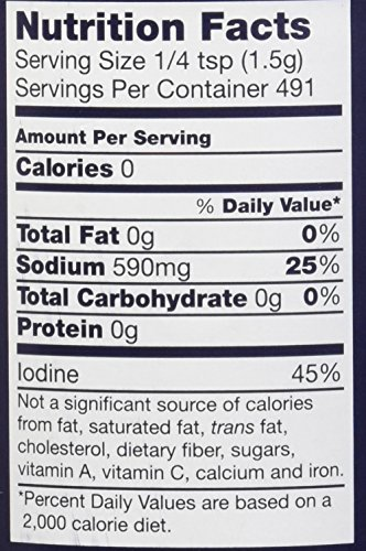 Morton Iodized Salt, 26 oz, Pack of 2 by Morton (Image #1)