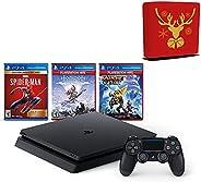 Sony Playstation 4 Console 1TB - with 1 DualShock Wireless Controller, 3 Games (Spider-Man, Horizon Zero Dawn