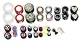 17 Pairs MIX Plugs Acrylic Stone Steel Spiral Taper Tunnel Ear Stretcher