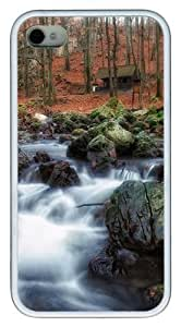 Cuha Brook pc White Case for iphone 4S/4