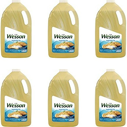 Wesson Vegetable Pure Natural Oil, 1 Gal - Pack of 6 (Wesson Oil)