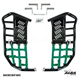 Yamaha Banshee YFZ 350 (1987-2006) Propeg Nerf Bars Black with Green Net (More Net Color Choices Available)