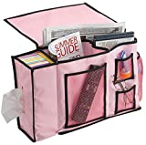 FloridaBrands Bedside Storage Organizer - 8 Pocket Bedside Caddy Nightstand Couch Cabinet Storage Organizer Books, Phones, Tablets, Accessories, TV Remote More