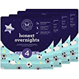 Honest Overnight Baby Diapers, Sleepy Sheep, Size 4, 104 Count