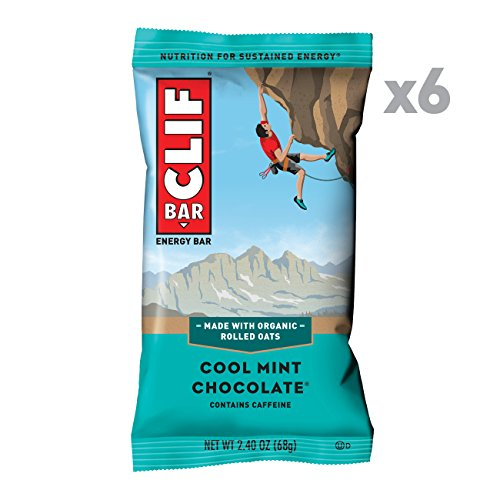Fruit Energy Bars Box - CLIF BAR - Energy Bar - Cool Mint Chocolate - With Caffeine (2.4 Ounce Protein Bar, 6 Count)