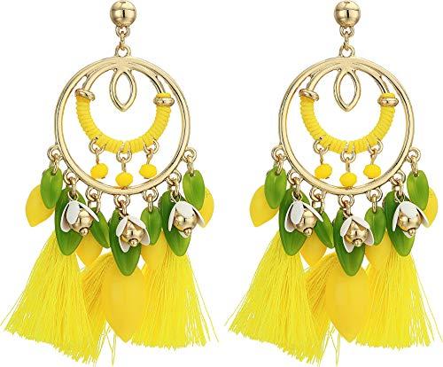 (Lilly Pulitzer Women's Lemon Grove Earrings Pineapple Juice One Size)