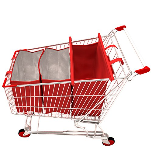 Shopping Cart Bags   3 Eco-Friendly Grocery Trolley Bags of which 2 Insulated
