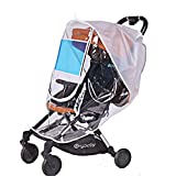 Universal Baby Stroller Weather Shield - Sunshade - Rain Cover - Breathable - Waterproof Umbrella Stroller Wind Dust Shield Cover for Strollers
