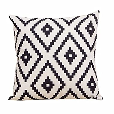 Laimeng Geometric Argyle Linen Throw Pillow Case