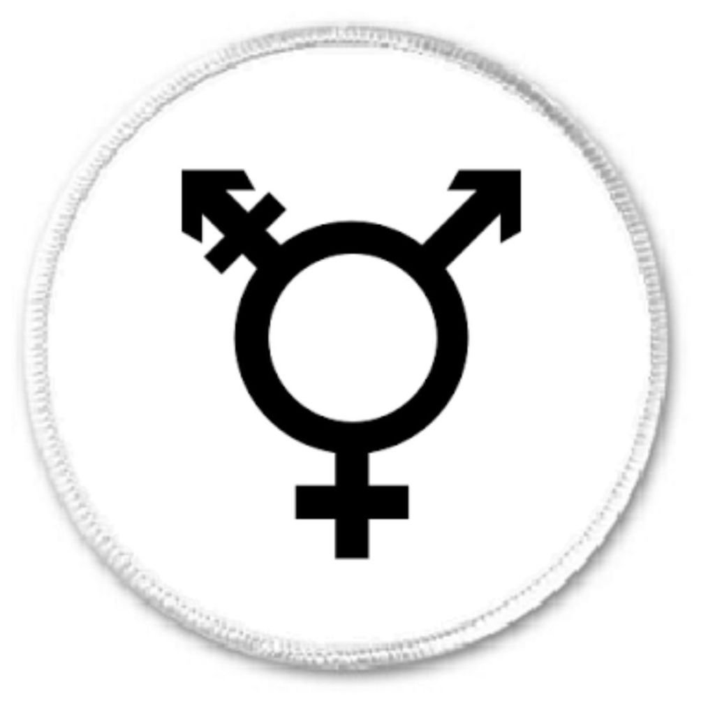 Transgender Symbol 3 Sew On Patch Support Trans Equality Love Rights Awareness