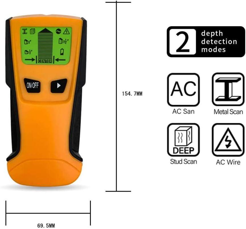 Fastobuy Leitungssucher Ortungsgerät Multifunktions Wand Scanner Detektor Mit Lcd Anzeige Und Audioalarm Für Stromleitung Metall Bolzenerkennung Baumarkt