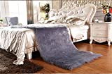 Meng Ge Faux Sheepskin Area Rug Chair Cover Seat Pad Plain Shaggy Area Rugs For Bedroom Sofa Floor