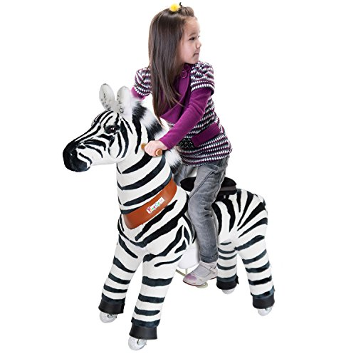 PonyCycle Official Riding Horse Zebra Black and White Giddy up Pony Plush Toy Walking Animal for Age 4-9 Years Medium Size - N4012 by PonyCycle (Image #3)