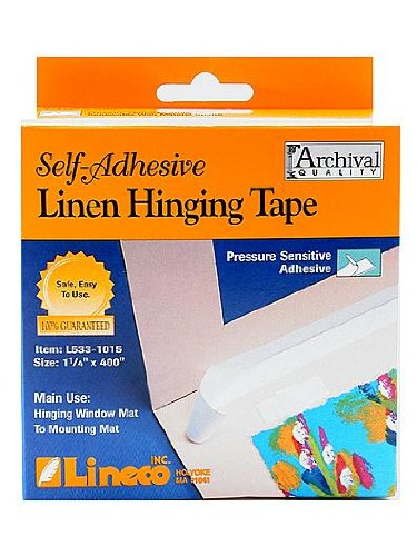 Lineco Self Adhesive Linen Hinging Tape 1 1/4 in. x 35 ft. [PACK OF 2 ]