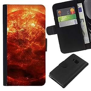 KingStore / Leather Etui en cuir / HTC One M7 / Spazio