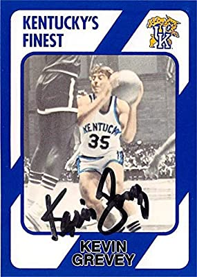 Kevin Grevey autographed basketball card (Kentucky Wildcats) 1989 Collegiate Collection #145 - Unsigned Basketball Cards