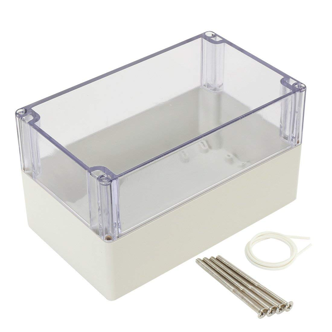 290mmx210mmx60mm sourcingmap/® 11.4x8.3x2.3 ABS Junction Box Universal Project Enclosure w PC Transparent Cover