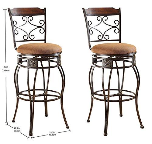 home, kitchen, furniture, game, recreation room furniture, home bar furniture,  barstools 4 image ACME Set of 2 Tavio Swivel Bar Chair deals