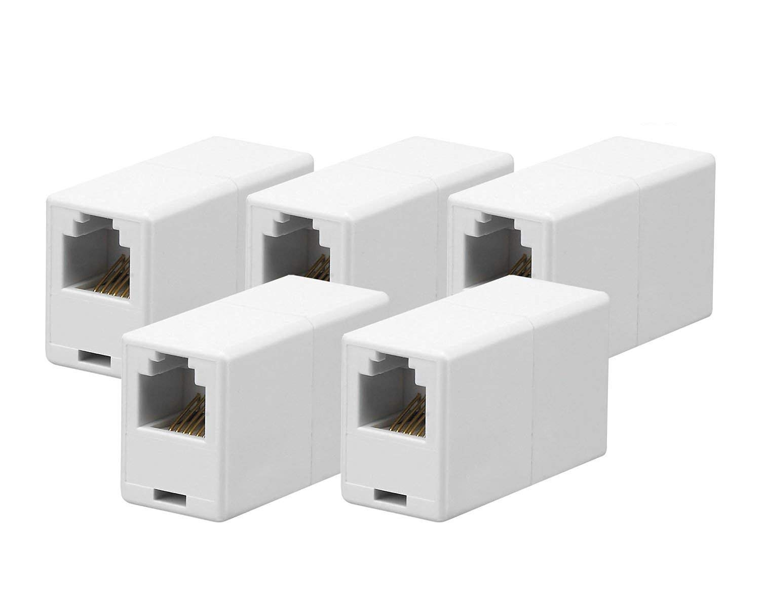 Amazon.com: iMBAPrice RJ12 / RJ11 6P6C Straight Telephone Inline Coupler (5  Pack): Computers & Accessories