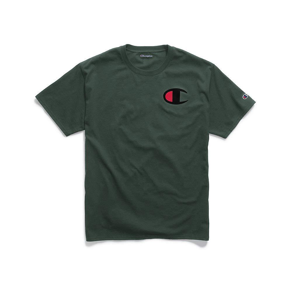 88b3255c Champion Mens Graphic Jersey Tee Big C Logo (GT23H Y06591) at Amazon Men's  Clothing store: