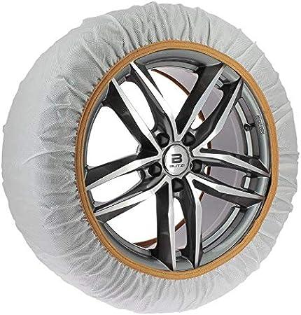 Chaussette neige textile pneu 175//80R16 excellente protection de la jante Valise comprenant 2 chaines textile et 1 paire de gants