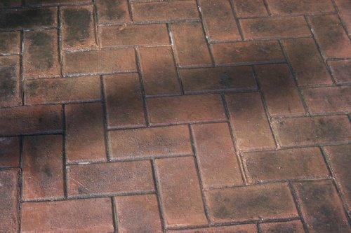 Herringbone Paver Concrete Stamp Set - 8 pc