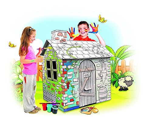 My Little House Cardboard Playhouse - Large Corrugated Co...