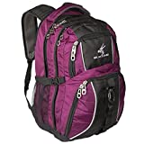 Exos Backpack, (Laptop, Travel, School or Business) Urban Commuter (Purple with Black Trim)