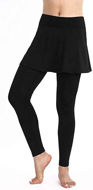 Women Skirted Leggings,Women Skirted Capri Tennis Leggings with Skirts/&Active Skirted Tight Pants Skirted Leggings Tennis Clothing