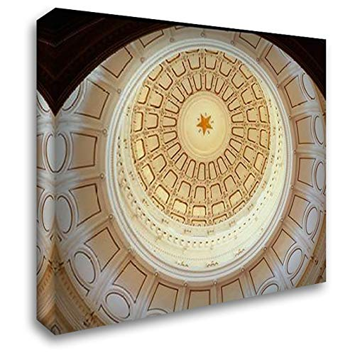 The Texas Capitol Dome, Austin Texas 36x28 Gallery Wrapped Stretched Canvas Art by Highsmith, Carol