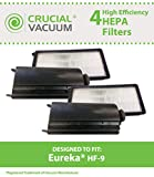 eureka hepa filter 60285 - 4 Replacements for Eureka HF9 HEPA Style Filter Fits Victory & Whirlwind Uprights, Compatible With Part # 0951A, 60951B & 60285, by Think Crucial
