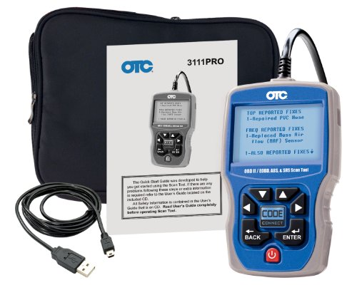 OTC (3111PRO) Trilingual Scan Tool OBD II, CAN, ABS And Airbag (Otc Obd Ii And Abs Scan Tool)