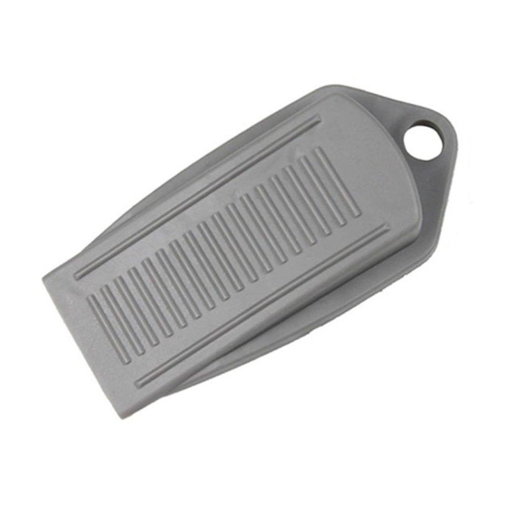 Bluelans® Bloque Porte Stop bloqueurs de cales en caoutchouc gris idéal pour bureau maison, 1 pièces