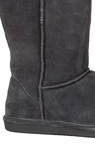 Hadari Womens Slip On Faux Suede Round Toe Boots zGhaN4j2F