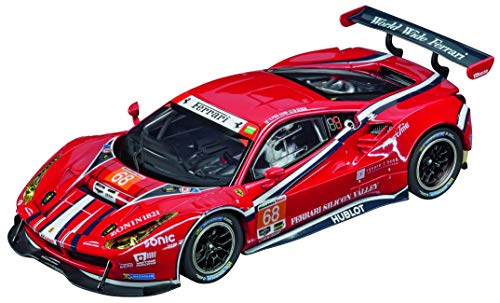 (Carrera USA 20027558 Ferrari 488 GT3 Scuderia Corsa No.68 Evolution Analog Slot Car Racing Vehicle 1:32 Scale, Red)