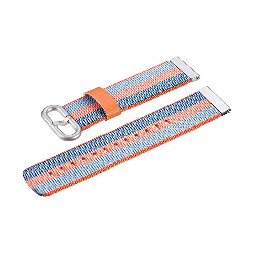 Price comparison product image Cywulin Nylon Band for Xiaomi Huami Amazfit Stratos 2 / 2S Amazfit Bip Bit Pace Smart Watch,  22mm Quick Release Sports Wrist Strap Replacement Woven Fabric Breathable Lightweight for Women Men (Orange)