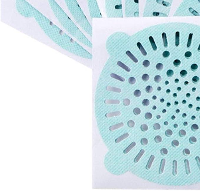 on brand DANDANdianzi 20pcs monouso Tessuto Non Tessuto Capelli Sink Filtro setaccio Adesivi Tessuto Non Tessuto Cucina Bagno Doccia Piano di Scarico Anti-Blocking Copertura della Rete