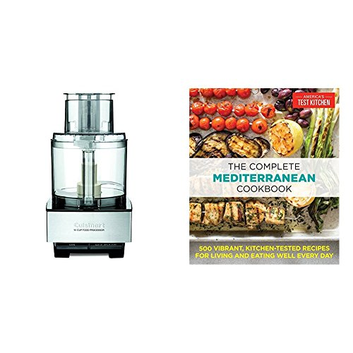 Lexan Bowl (The Complete Mediterranean Cookbook: 500 Vibrant, Kitchen-Tested Recipes for Living and Eating Well Every Day & Cuisinart DFP-14BCNY 14-Cup Food Processor, Brushed Stainless Steel)