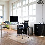 Sturdy Desk Chair Mat for Hardwood Floors Transparent Non Slip Premium Quality Floor Mat 36