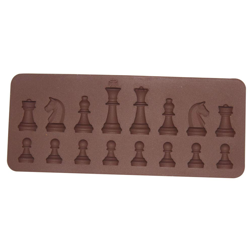 Colorido International Chess Mold DIY Chocolate Sugar Baking Stencil Biscuit Silicone Mold