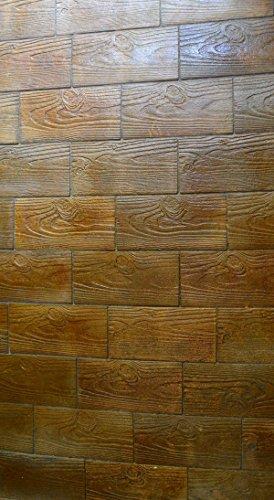 Garden Brick Tile - Sold Set 4 PCS Plastic Concrete Stone MOLDS Bricks PAVERS Tiles Garden Wood Patio #S22
