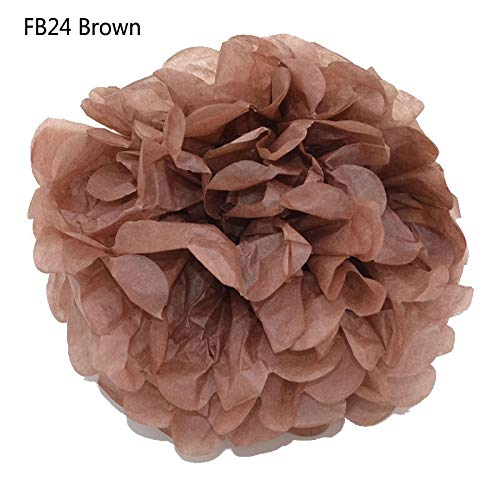 5Pcs 4''-12'' Tissue Pompom Paper Ball Flower Craft Decorative Baby Shower Party Hanging Paper Craft Flower