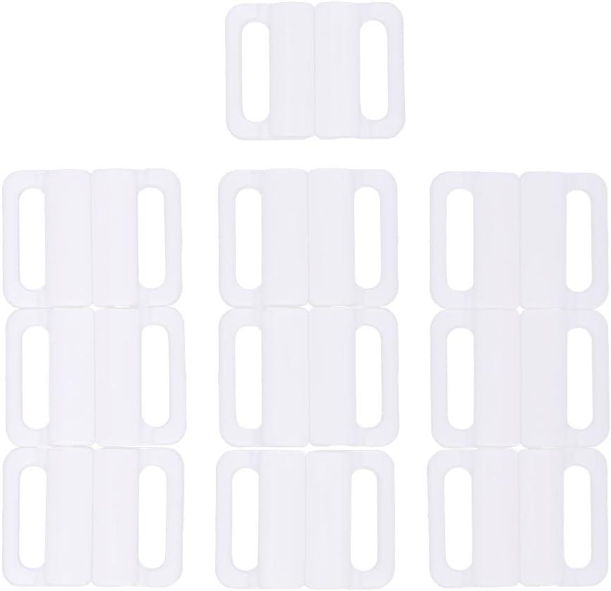 MagiDeal 20 Paia Bikini aus Kunststoff Clip mit Haken f/ür Bustier Gurte Bagno Verschluss Forniture f/ür die Bettw/äsche 14 mm