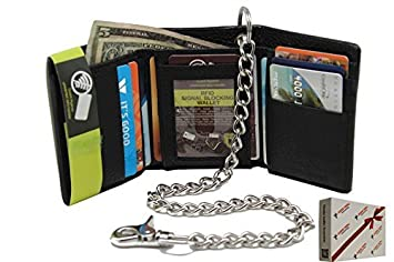 ee45daa521bba Men s Cow Leather (Snake Texture) 112- Black R.F.I.D Safe Identity Theft  Protection Trifold