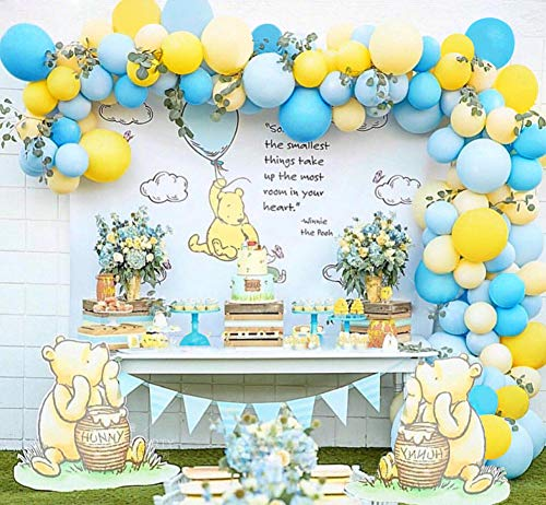 Balloon Garland Arch Kit Blue Yellow Balloons Bouquet Kit Baby Shower Balloons Backdrop Background Weeding Bachelorette Birthday Party Decorations -