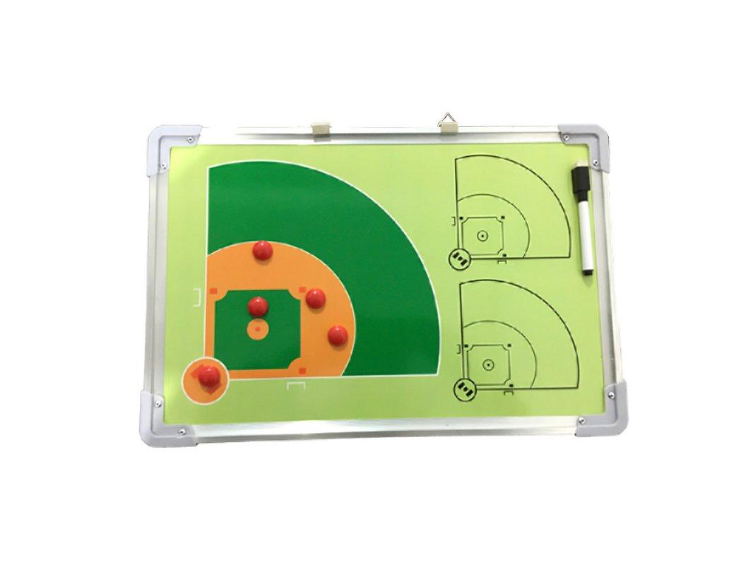 Odowalker Baseball Coach Tactics Board Aluminum Frame Coach's Traning Aid Match Plan Strategy Whiteboard Clipboard Lamilla