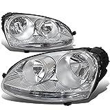 vw jetta headlights bulbs - For Volkswagen VW Jetta/Rabbit Pair of Chrome Housing Headlight