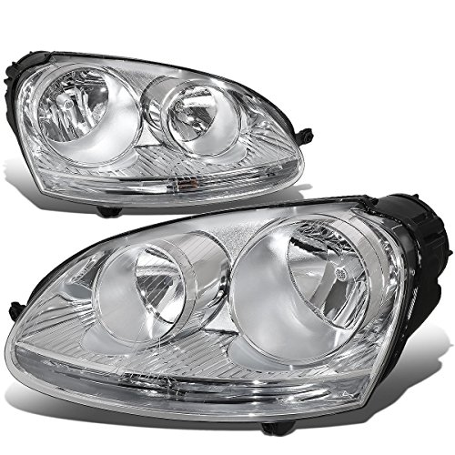 For Volkswagen VW Jetta/Rabbit Pair of Chrome Housing Headlight