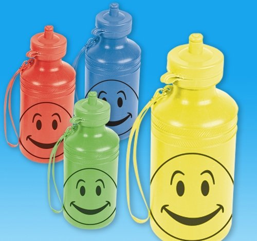 7.5'' 18 oz SMILELY FACE WATER BTL, Case of 144 by DollarItemDirect